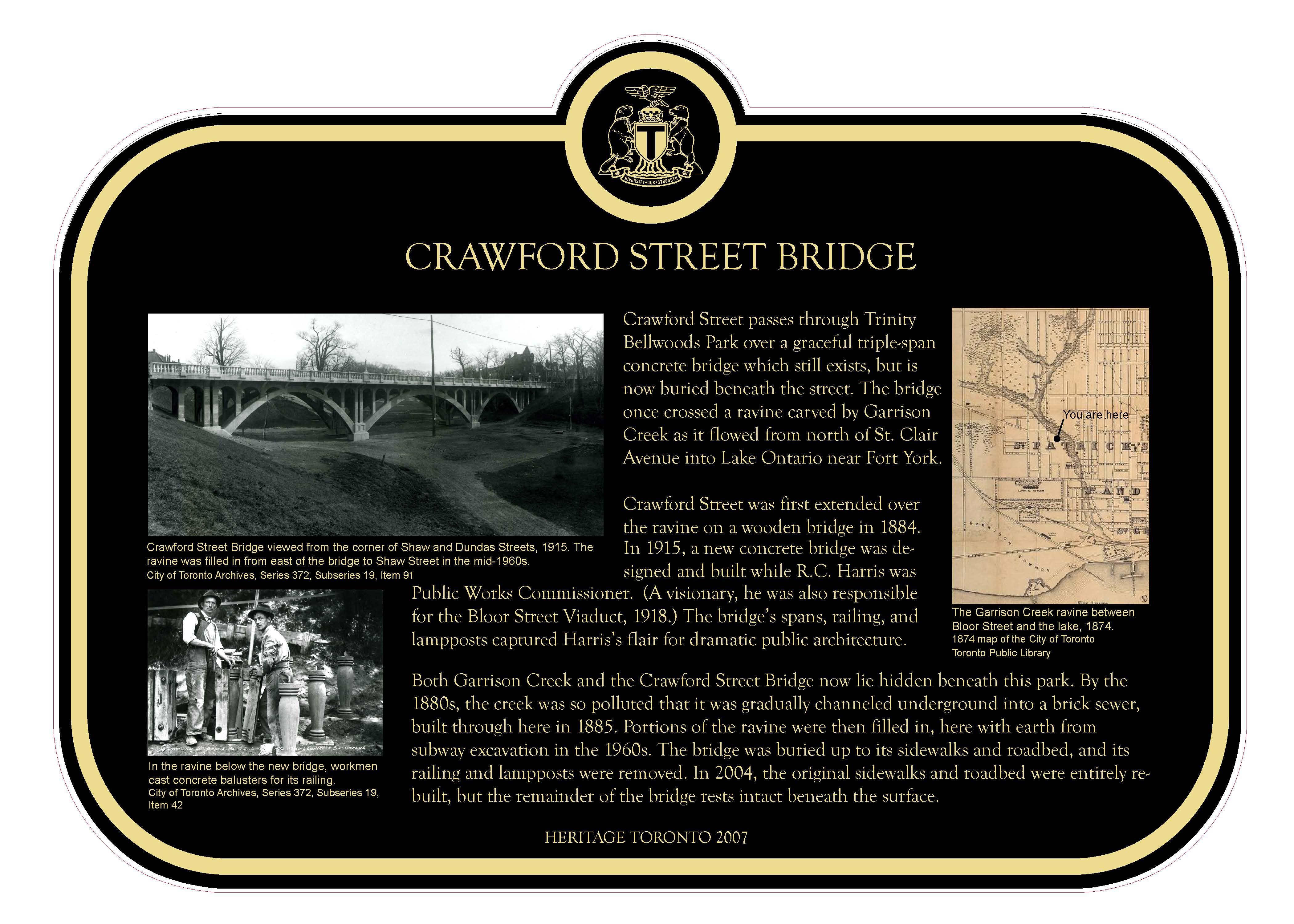 Crawford Street Bridge From Heritage Toronto
